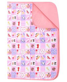 1st Step Multi Print Pink Baby Mat