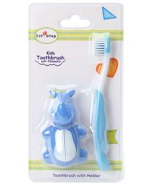 1st Step Kids Toothbrush With Holder - Blue