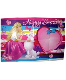 Barbie Pink Paper Birthday Poster - 48 x 74 cm
