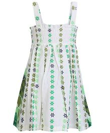 Isabelle Sleeveless Gathered Frock - Floral Print