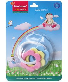 Morisons Baby Dreams Baby Rattle - Blue Pink