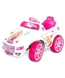Barbie Battery Operated Car - Pink and White