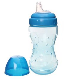 Baby Coo's Blue Non Spill Soft Spout Cup 200 ML - 6 Months Plus