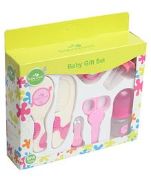 Baby Coo's Pink Baby Gift Set - 7 Pieces