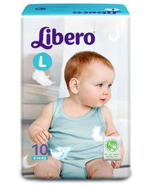 Libero Baby Diaper Large - 10 Pieces