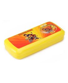 RKs Beyblade Yellow Pencil Box - 20 x 9 x 3 cm