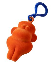 Rubbabu Natural Rubber Foam Orange Chimpanzee Toy And Hanger On