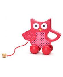 Honey Bunny Wood Toy With Microfleece Blanket - Pink