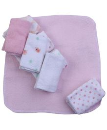 Piccolo Bambino Washcloth in Mesh Bag Pack of 8 Pink