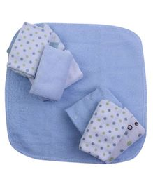 Piccolo Bambino Washcloth in Mesh Bag Pack of 8 Blue