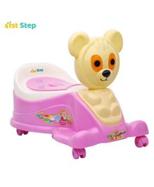 1st Step Pink Musical Potty Seat With Wheels (Color May Vary)