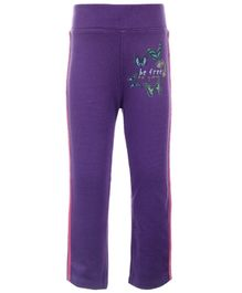 Quarter Spoon Legging With Velvet Strip On The Side