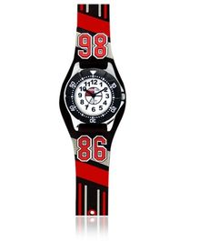 Jacques Farel Kids 86 3D Strap Wristwatch Red