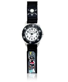 Jacques Farel Kids Pirate 3D Strap Wristwatch Black