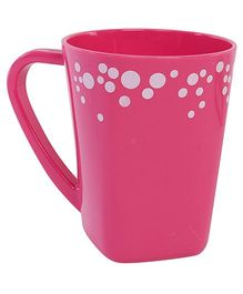 Fab N Funky Pink Dots Print Baby Cup