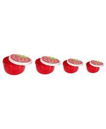 Fab N Funky Strawberry Shape Lunch Box