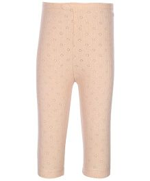 Kanvin Peach Full Length Thermal Legging - Pointelle Design