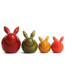Aatike Bunny Family - Wooden Bun Bunnies