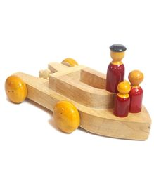 Aatike Wooden Family Boat - Brown