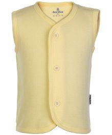 Child World Yellow Sleeveless Plain Vest