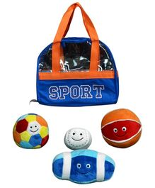 Play N Pets Plush Set Of Four Soft Ball