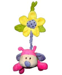 Play N Pets Ladybird With Flower Pink - 15 cm