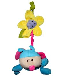 Play N Pets Ladybird With Flower Blue - 15 cm