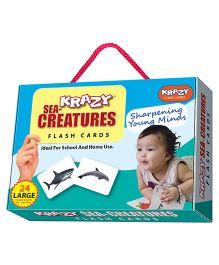 Krazy Sea Creatures Flash Cards - 26 Cards