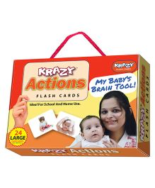 Krazy Actions Flash Cards