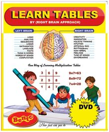 Bento Learn Tables By Right Brain Approach DVD - English