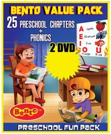 Bento Value Pack 25 Preschool Chapters And Phonics DVD - English