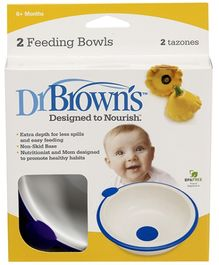 Dr Browns Bowls Pack Of 2 - Blue And Green