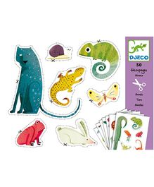 Djeco Animals Stickers - 50