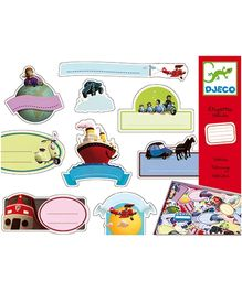 Djeco Etiquette Vehicles Stickers Set