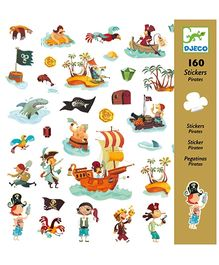 Djeco Pirates Stickers - 160 Stickers