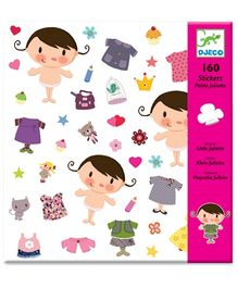 Djeco Little Juliette Stickers - 160 Stickers