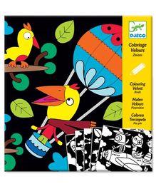Djeco Coloring Velvet Birdz Board