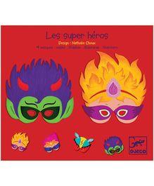 Djeco Super Heroes Masks - Set Of 4