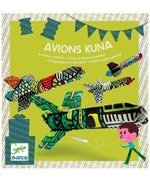 Djeco Avion Kuna Colours In Planes - Four Planes And One Straw
