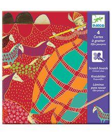 Djeco Crimson Elves Scratch Cards Craft Kit