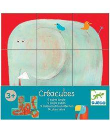 Djeco Jungle Animal Nine Cubes Puzzle