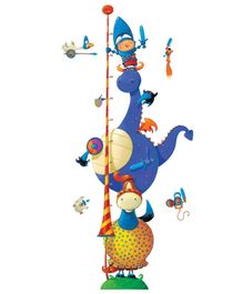 Djeco Fantastic Knight Height Wall Stickers - 15 Pieces