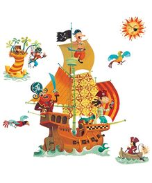 Djeco Pirates Ship Re-Positionable Large Wall Stickers