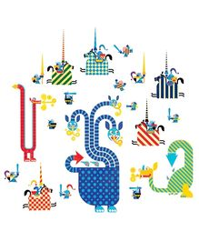 Djeco Dragons Wall Stickers - 21 Pieces