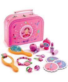 Djeco Children Toys My Wooden Vanity Case - Pink