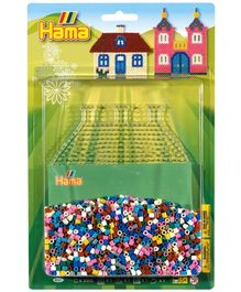 Hama Midi House Beads Pack - Blister Large