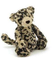 Jellycat Bashful Leopard Medium - Beige and Black