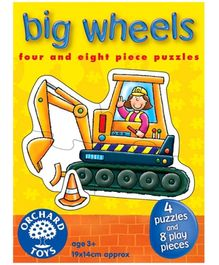 Orchard Toys Big Wheels 4 Puzzles And 8 Play Pieces