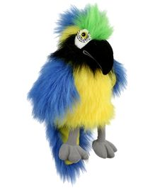 Puppet Company Children Toys Blue And  Gold Macaw Hand Puppet - 16 Inches