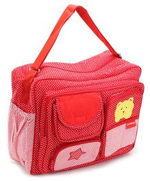 Sapphire Red Diaper Bag Polka Dot Print - 13 x 38 x 30.5 Cm